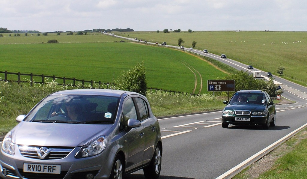 Traffic on the A303 is seasonal and cuts across the Stonehenge World Heritage Site. Copyright: Stonehenge Alliance