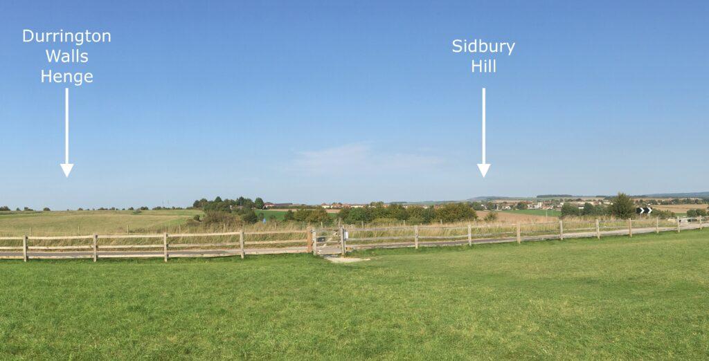 Durrington Walls Henge and Sidbury Hill.