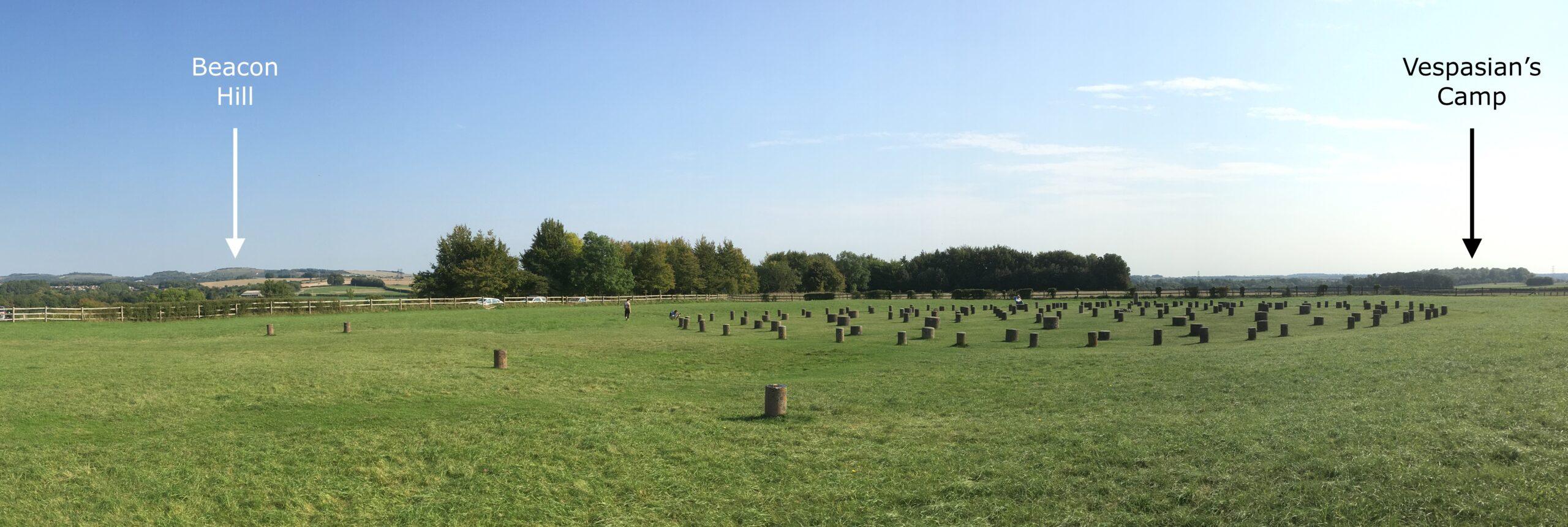 Woodhenge Eastern Horizon: Beacon Hill and Vespasian's Camp